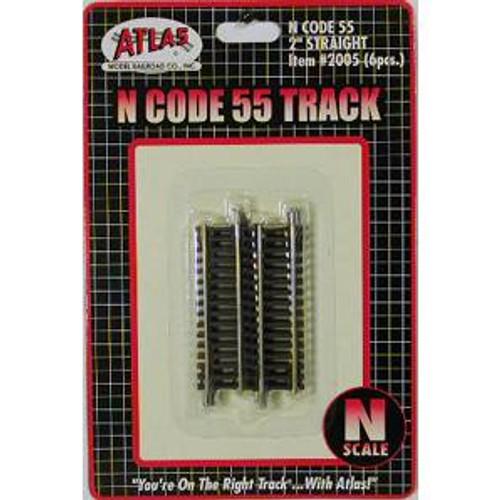 Atlas Trains 2005 HO Scale N Code 55 2'' Straight/6pk