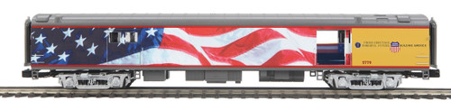 MTH Premier 20-64089 70FT ABS Streamliner Baggage Car Smooth Side O Scale