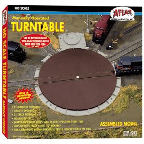 Atlas Trains 305 HO Scale HO Turntable/21 stalls