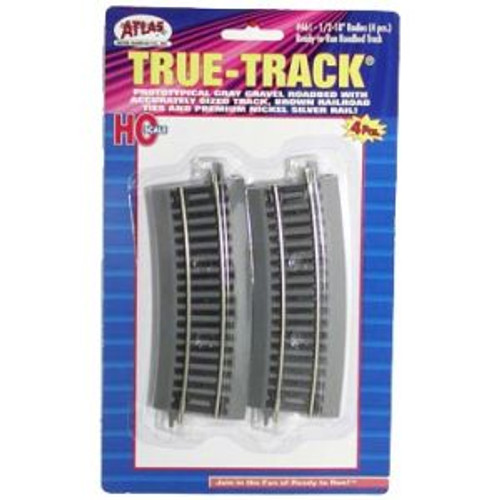 Atlas Trains 461 HO Scale HO True-Track 1/2-18 Radius/4pk