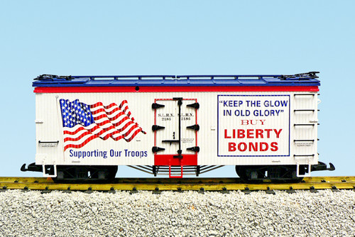"USA Trains R16486 Liberty Bonds ""Old Glory"" Patriotic Refrigerator Cars G Gauge American Series"