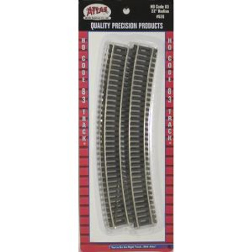 Atlas Trains 535 HO Scale HO Code 83 22 Radius/6pc