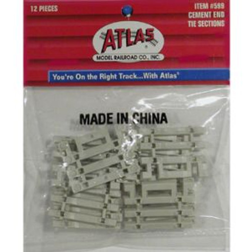 Atlas Trains 599 HO Code 83 Flex Track End Concrete Ties