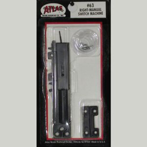 Atlas Trains 63 HO Code 100 Switch Machine/Manual Right
