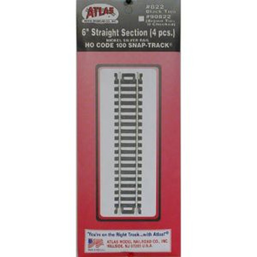 Atlas Trains 822 HO Code 100 6 Straight/4pk