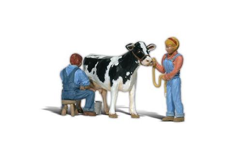 Woodland Scenics A2553 Milkin' Ol' Bessie G Scale Figures