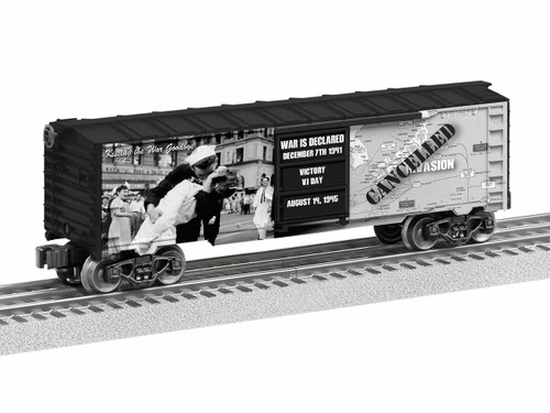 Lionel 1938210 Kiss the War Goodbye World War II Boxcar O Gauge