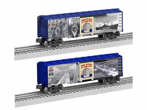 Lionel 1938240 WWII Liberty Ships Boxcar O Gauge