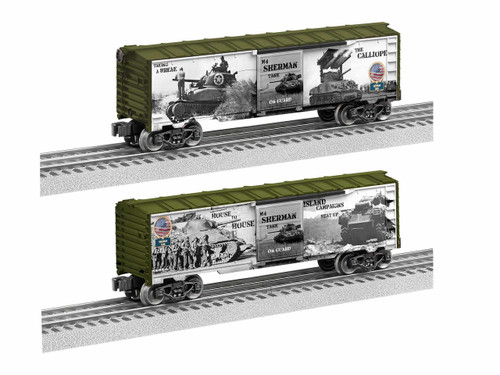 Lionel Trains 1938220 WWII Sherman Tank Boxcar O Gauge