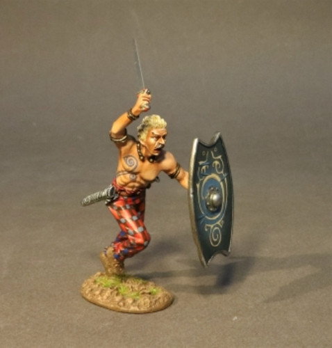John Jenkins IC-05B Armies And Enemies Of Ancient Rome Iceni Warrior Charging