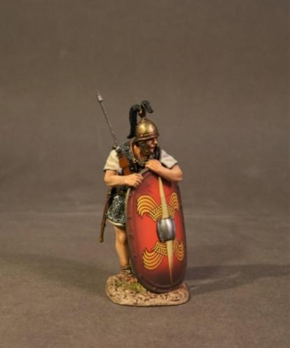 John Jenkins RR-04R Roman Army Of Late Republic Legionnaire Leaning On Scutum
