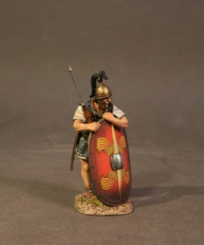 John Jenkins RR-04R Roman Army Of Late Republic Legionnaire Leaning On Scutum