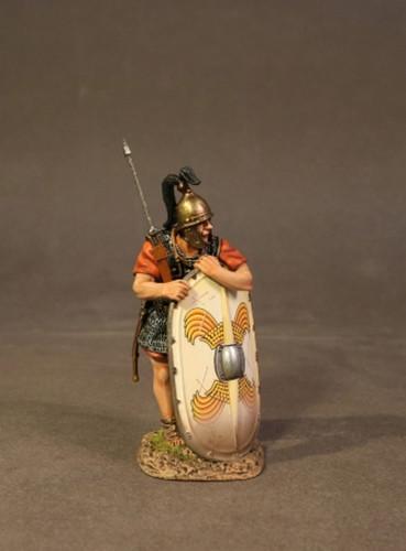 John Jenkins RR-04W Roman Army Of Late Republic Legionnaire Leaning On Scutum