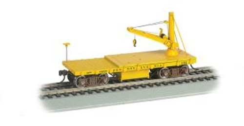 Bachmann Trains 16418 HO Scale  OT MoW Derrick Car PRR Lines