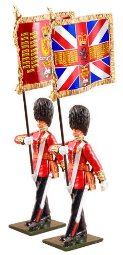 WBritain 48017 Queen's Diamond Jubilee Set Guards Colours Scotts Guards