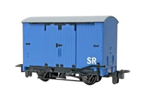 Bachmann Trains 77202 HO Scale TTT Narrow Gauge Box Van/blue (Runs on N Track)