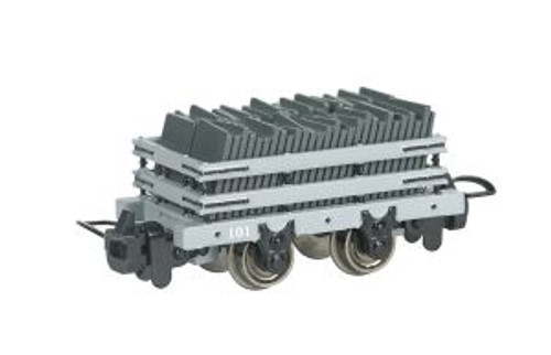 Bachmann Trains 77302 HO Scale TTT Narrow Gauge Slate Wagon w/Load #101 (Runs on N Track)