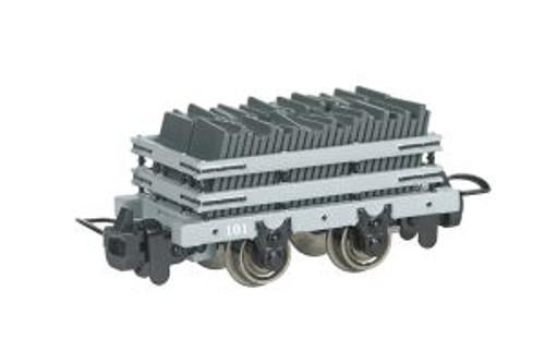 Bachmann Trains 77302 HO Scale TTT Narrow Gauge Slate Wagon w/Load #101 (Runs on N Track)