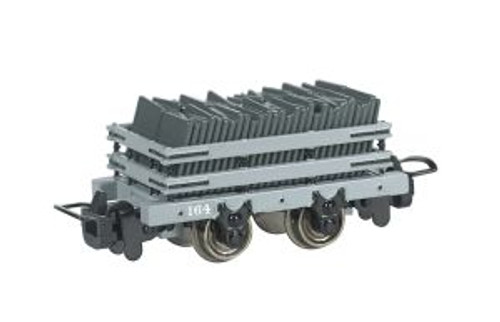 Bachmann Trains 77303 HO Scale  TTT Narrow Gauge Slate Wagon w/Load #164 (Runs on N Track)