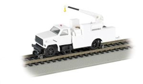 Bachmann Trains 16901 HO Scale  Hi-Rail Equipment Truck w/Crane/wht/DCC