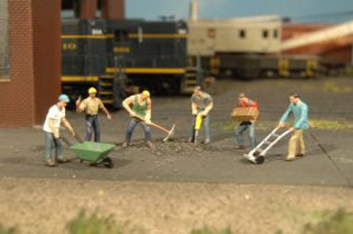 Bachmann Trains 33105 HO Scale  Construction Workers/6pc
