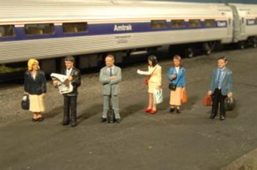 Bachmann Trains 33110 HO Scale Standing Platform Passengers/6pc