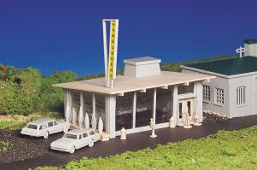 Bachmann Trains 45434 HO Scale Drive-In Hamburger Stand