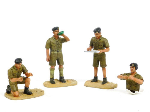 Figarti B4076 British Tank Troops WW II Africa Theater Limited Edition