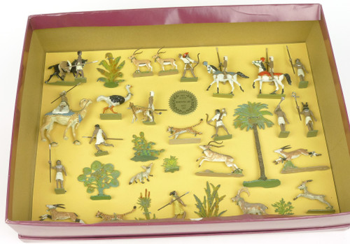 Hornung Art By Bob Hornung The Hunt With Cheetah's Collectible 32 Piece Box Set