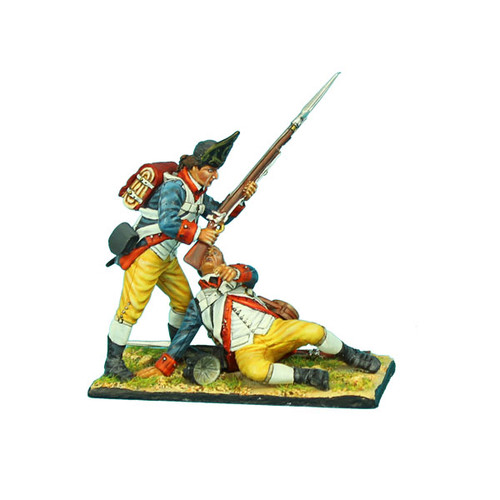 First Legion AWI069 American Revolution Haslets 1st Delaware Two Figure Vignette