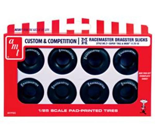 AMT 003 1/25 scale M&H Racemasters Jumbo Drag Slicks Tire Pack
