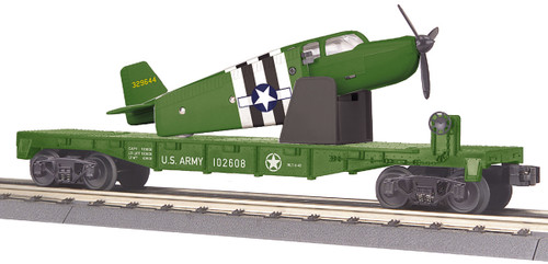 MTH RailKing 30-76765 US Army Flat Car With Airplane O Scale