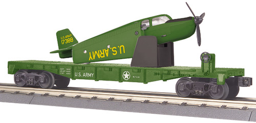 MTH RailKing 30-76767 US Army Flat Car With Airplane Road No 108275