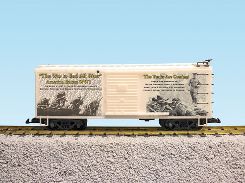 """USA Trains R19122 WWI """"The Yanks Are Coming"""" US Army Boxcar G Gauge"""