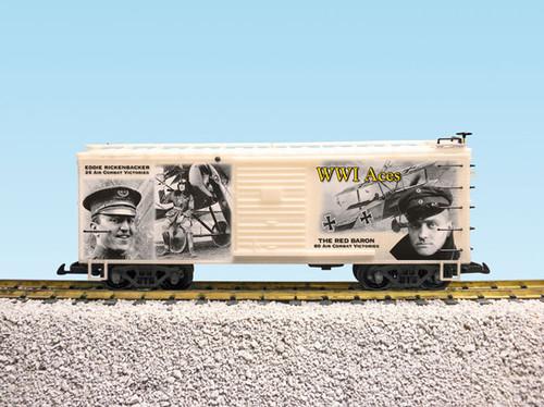 "USA Trains R19123 WW1 ""Aces"" 100th Anniversary Commemoration Boxcar"