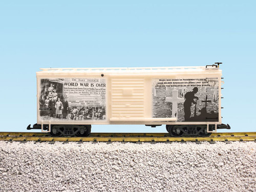 "USA Trains R19124 WW1 ""The War Is Over"" 100th Anniversary Commemoration Boxcar"