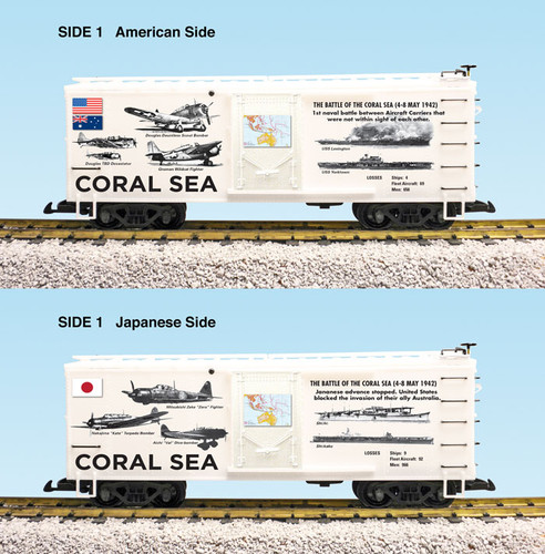 "USA Trains R19126 WWII ""Battle Of The Coral Sea"" G Gauge Boxcar"