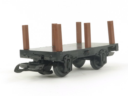 Hartland Locomotive Works Mini Flat Car With Stakes G Scale Model Trains