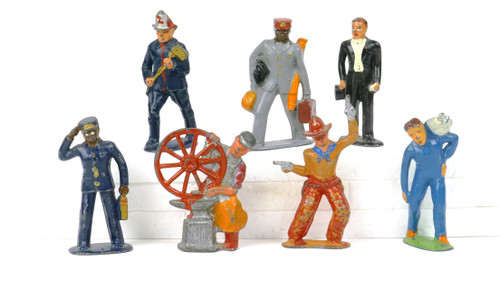 Barclay Manoil American Dimestore 7 Piece Figure Collection