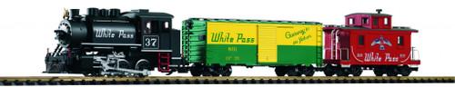 Piko America 38106 White Pass Starter Set G Gauge Train Set W/Analog Sound & Smoke