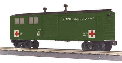 MTH RailKing 30-79635 US Army Kitchen Car Engineering Car O Gauge Trains