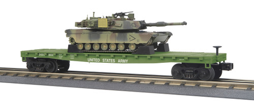 MTH RailKing 30-76770 US Army Flat Car With M1A Abrams Tank O Gauge Trains