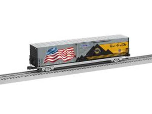 Lionel 6-85045 O Gauge LED Flag Boxcar DRGW Heritage #1989