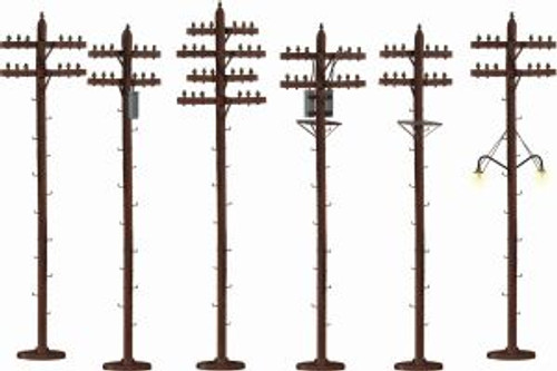 Lionel 6-49872 American Flyer S-Scale Telephone Poles 6 pack