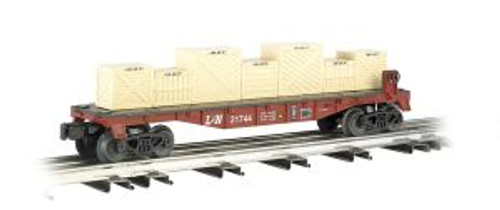 Bachmann Williams 47555 O Gauge Flatcar w/Crates L&N