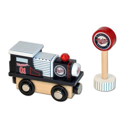 Major League Baseball Minnesota Twins Wooden Railway Train Engine 0411ZT1