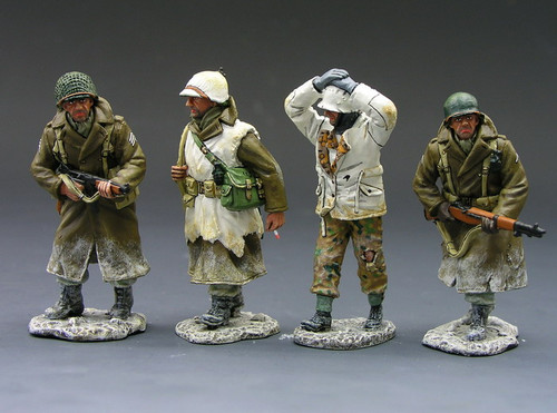 King & Country Soldiers BBA006 World War II Battle Of The Bulge Returning Patrol