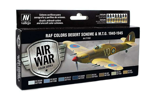 Vallejo Royal Air Force Desert Scheme 1940-1945 Air War Color Series Paint Set