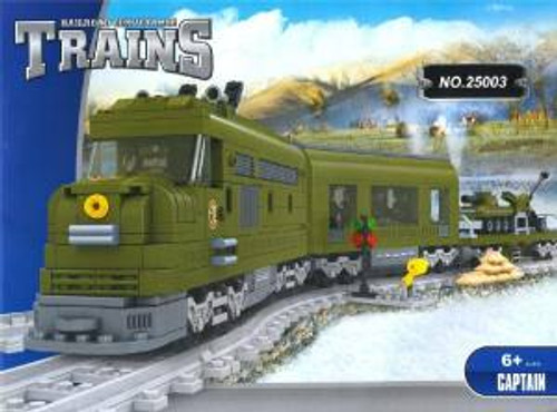 Ausini 25003 Building Block Military Train Set 764p
