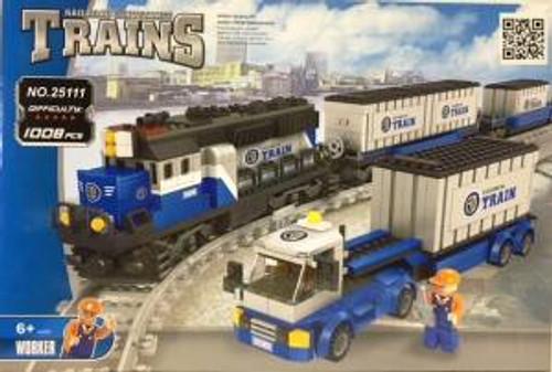 Ausini 25111 Building Block Container Train Set 1008p